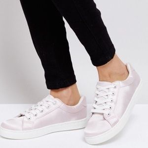 Shoes - LAST 1❗️NWT Light Pink Satin Sneakers